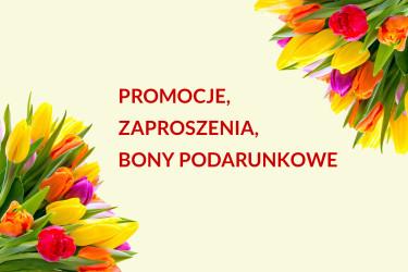 Promocje, zaproszenia, bony podarunkowe